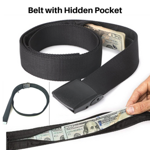 Men Belt a travel Hidden Cash Money Bag Anti Theft Waist Belt Pouch Wallet