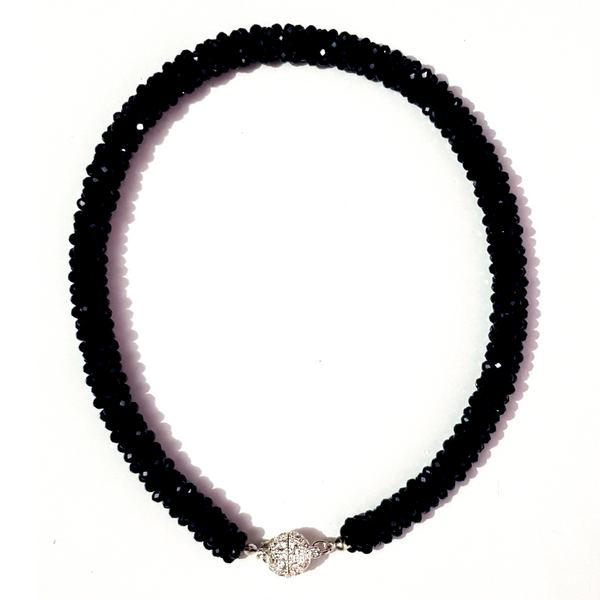 Black Beaded Handcrafted Necklace