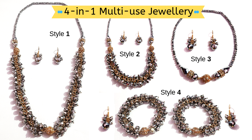 Multi Use Jewelry 1 Product - 4 Type of Use