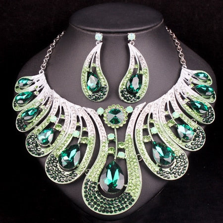 Bridal Jewelry Sets Wedding Necklace Earrings For Brides 2 Colors