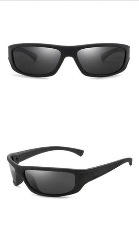 HD Polarized Sunglasses UV400 Black Frame Sports Sun Glasses for Men