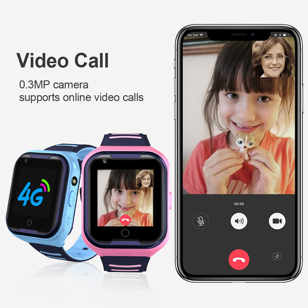Smart Watch with GPS Tracking for Kids 4G, Wifi, Ip67, 1.4 Inch Display, Camera