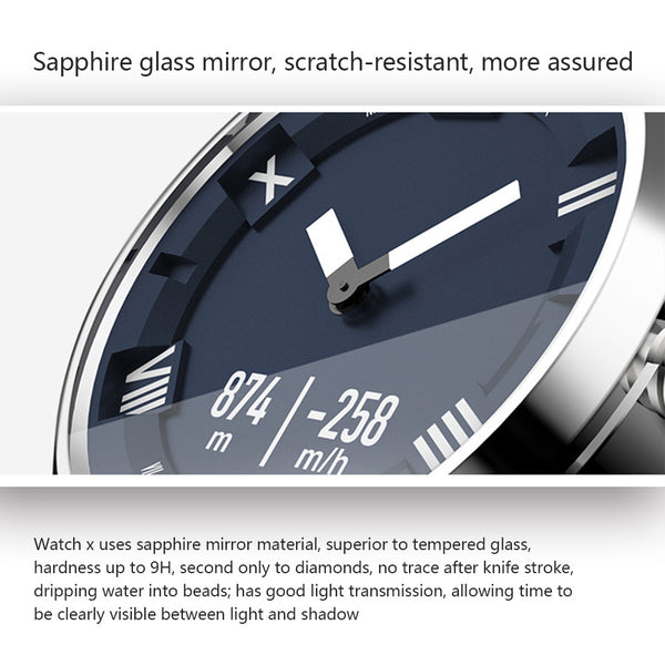 Luxury Watch x-plus by Lenovo, OLED Screen, Sapphire Glass, 45 Days Standby, Heart Rate Sensor