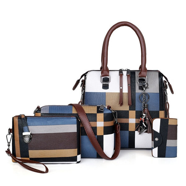Luxury Women Handbags Designer Bags set 4 Pieces Bags 6 Colors