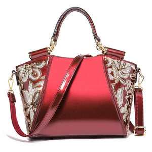 Luxury Women Bag with Sequence Embroidery Work in 4 Colors