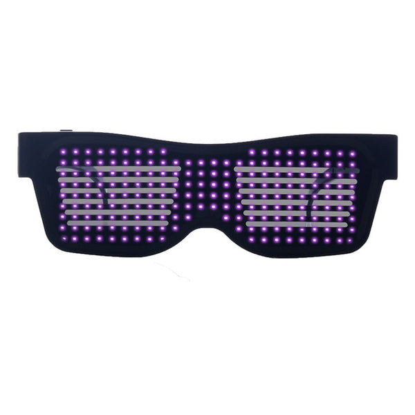 Led Glasses Magical Bluetooth App Control Change Designs DJ Electric Syllables Party Eye Glasses