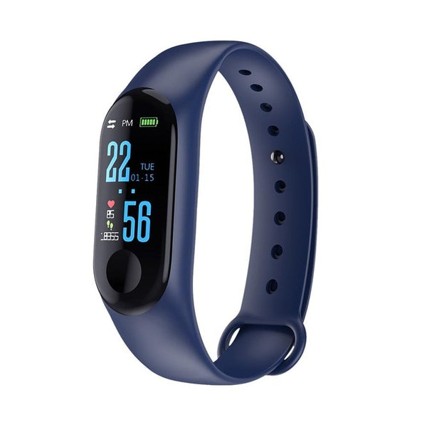 M3 Color Screen Smart Watch Fitness Tracker with Heart Rate, Blood Pressure Monitor, Waterproof Sports Wristband for Android iOS