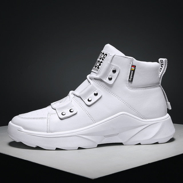 Designer White Men High Top Casual Clunky Sneakers Shoes