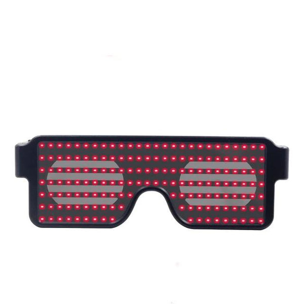 Led Party Glasses with Led Light with 8 Predefined Designs Luminous Glasses