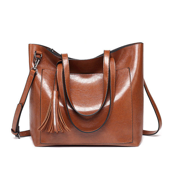 New Tassel Design Pu Leather Women Bags in 4 Colors