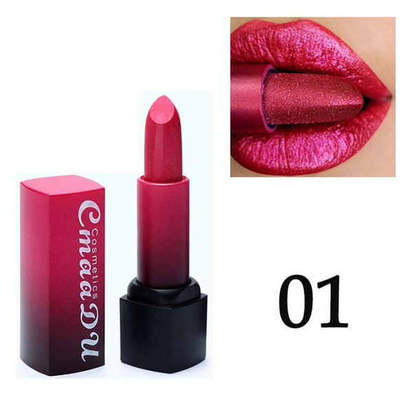 Metal color Lipstick Luxury Makeup in 5 Shades
