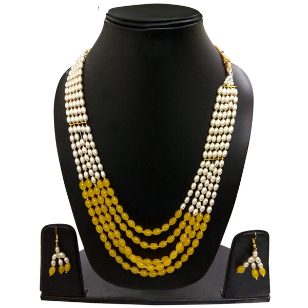 Handmade Designer Necklace Set of Moti Stone Heavy Look Firozi