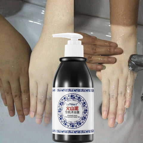 Skin Whitening Body wash Volcanic Mud Shower Gel 250ml skin whitening body wash Deep Clean Skin Moisturizing Bath Gel