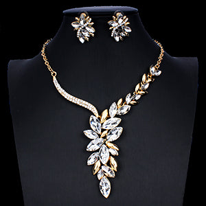 Bridal Jewellery Set for Women Crystal Necklaces Earrings Set