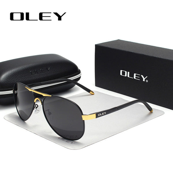 Pilot Style Polarized Sunglasses classic round UV protection