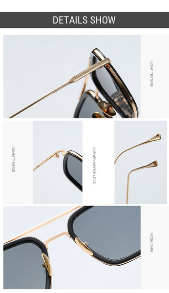 Man Square Sunglasses Retro Gradient Shades 8 Colors Shades