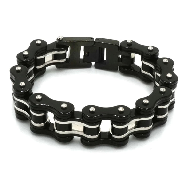 Stainless Steel Motorcycle Chain Bracelet for Men Biker Jewelry for Men