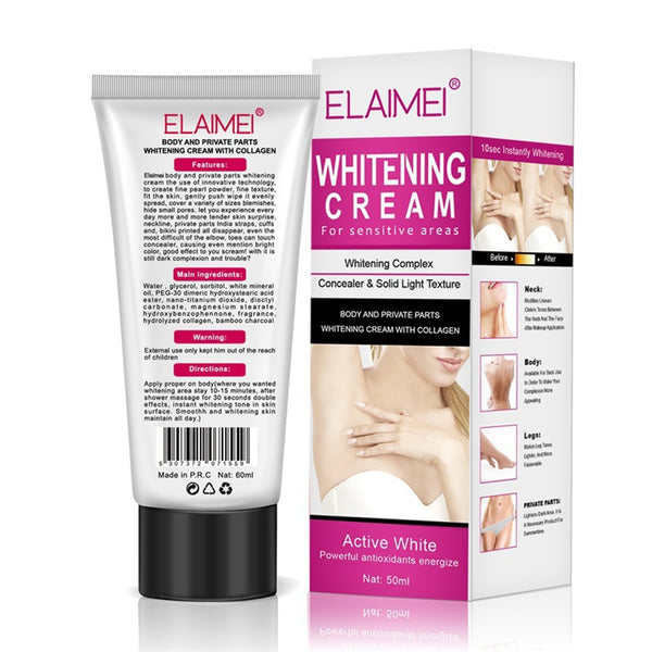 Underarm Whitening Cream for Sensitive Area Skin Body and Private Parts Whitening Cream