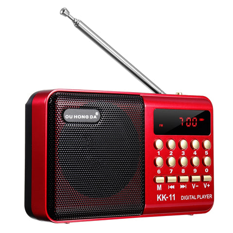 Portable Bluetooth Speaker fm Radio with mp3 player with USB, sd card slot MP3 Player Speaker Rechargeable