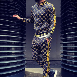 Men Designer Street Wear Tracksuit Hooded Sweatshirt Sweatpants Sports Suit