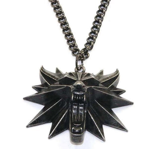 The Witcher Wild Hunt Medallion Pendant and Chain Necklaces for Men