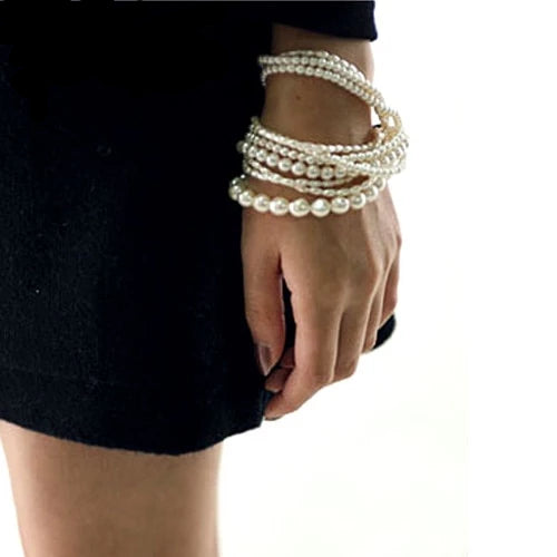 Bohemian Imitation Pearl Beads Multilayer Bracelet