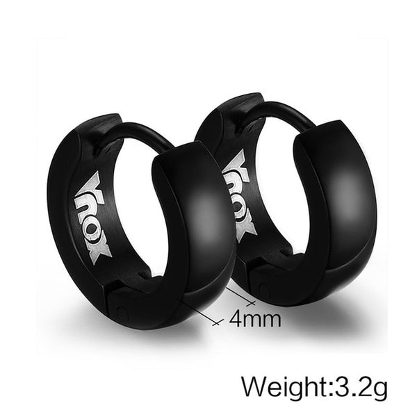 Hugging Hoop Earrings for Men Stainless Steel Small Earrings 4 Color