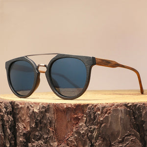 Vintage Wood Sunglasses, High Quality Polarized Lens UV400 Protection