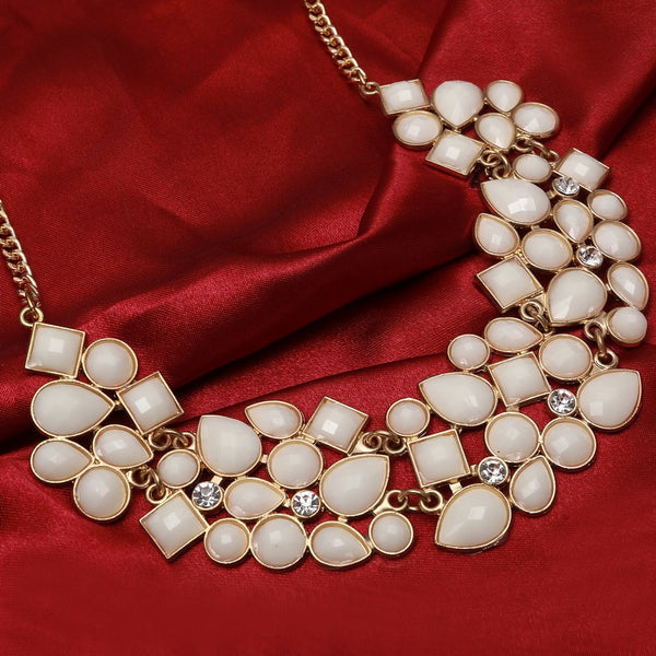 Gem Style Necklaces Vintage Gold Plated Chain - 9 Colors