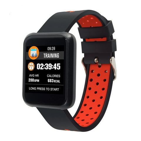 Smart Watch with Smart Features Blood Pressure, IP68 Waterproof, Fitness Tracker, Clock Smart App IOS Android