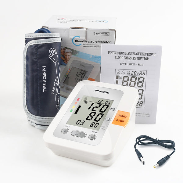 Yongrow Digital Lcd Upper Arm Blood Pressure Monitor Heart Beat Meter Dual Power Mode USB or AA Battery