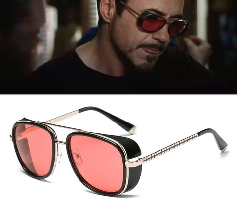 Tony Stark Style Designer Men Sunglasses 8 Colors