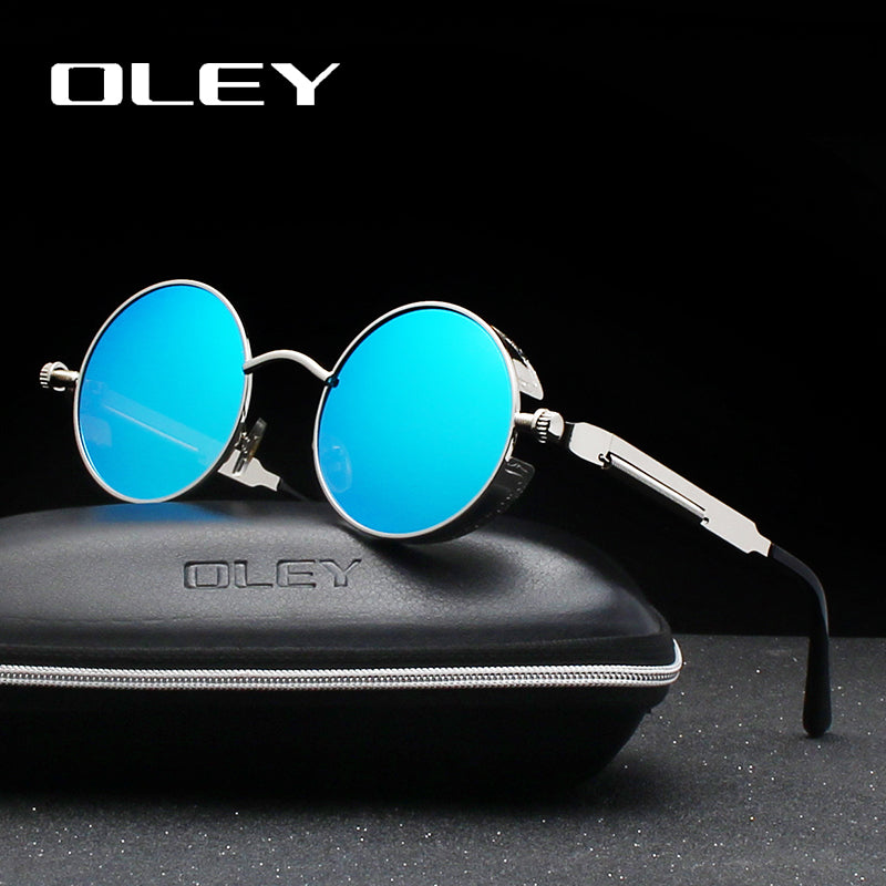 Metal Round Sunglasses Anti-glare Eyewear UV Protection Steampunk Style - 6 Colors