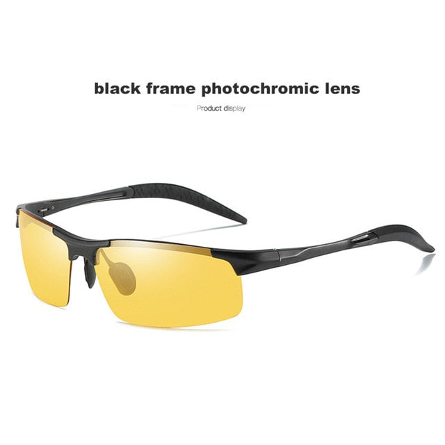 Aluminum Frame Photochromic Sunglasses Polarized Night Vision Glasses