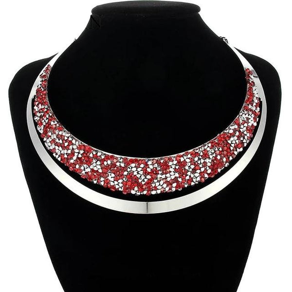 Bijoux Luxury Full Crystal Choker Necklace
