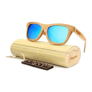 Bamboo Wood Made Polaroid Sunglasses Unisex