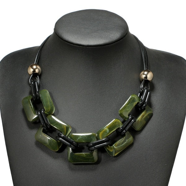 Leather Corded Vintage Style Necklace