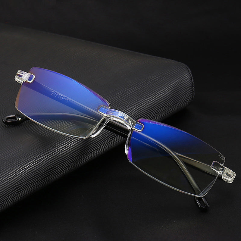 Ultralight Rimless Anti-Blu-Ray Computer/Mobile Phone User Glasses