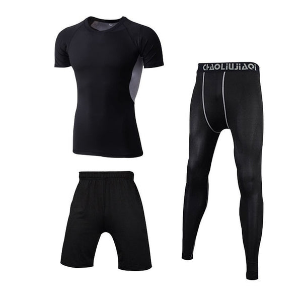 Men Gym Wear Set Tracksuit Sportswear Set Quick Dry for Jogging Training Gym Running