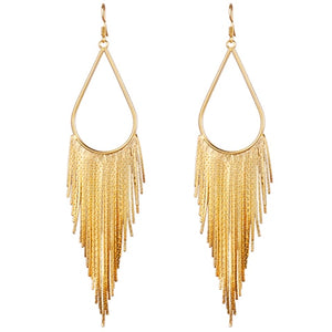 Long Tassel Earrings Ethnic Big Style in 3 Colors