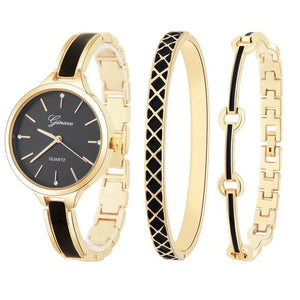 Women Watch with Bracelet Luxury Style 3Pcs. Set