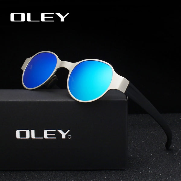 Round Metal Frame Design Polarized Sunglasses Fashion Classic - 6 Shades
