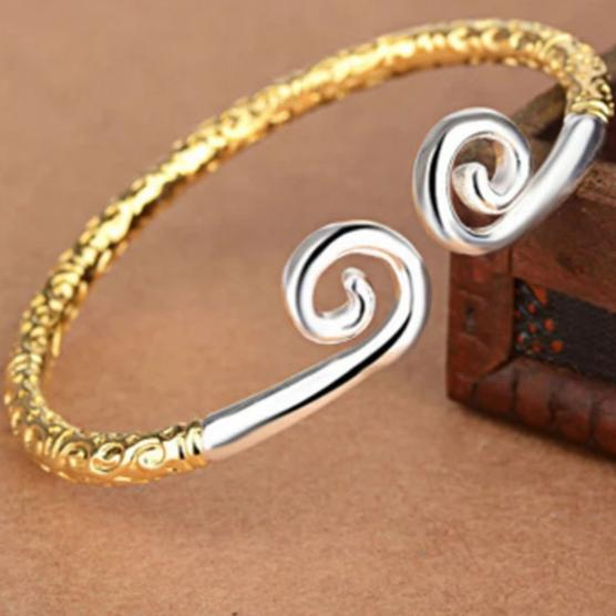 Handmade high Quality Pagan Viking Hoop Shape Copper Men Bracelet 3 colors