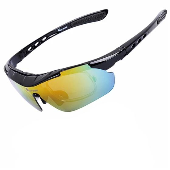 Polarized Bikers Glasses Anti-fog Sunglasses With Mypia Frame with Exchangeable 5 Lens