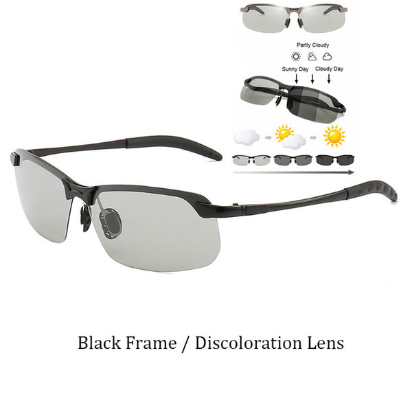 Designer Photochromic Lens Sunglasses Auto Day Night Vision Change Color Lens