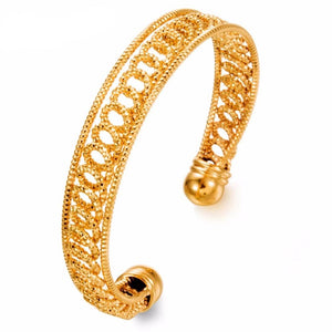 Gold Plated Kada Bracelet All Size Adjustable Made by Copper