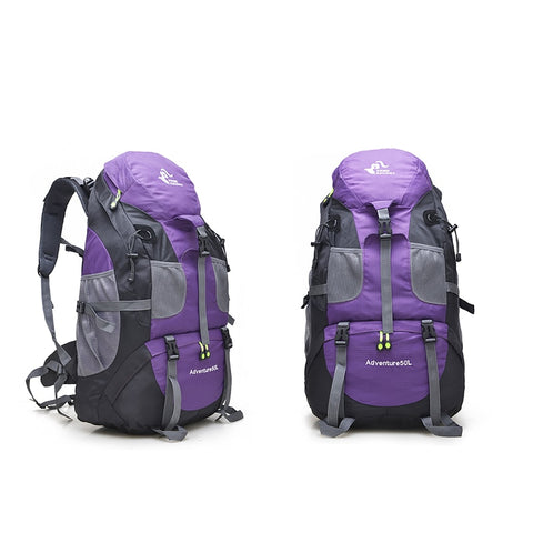 50L Outdoor Waterproof Hiking Travel Backpack Bag best for trekking camping climbing sport travel backpack bag