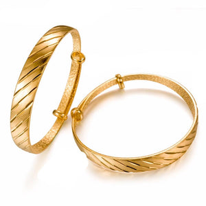 Golden Bangle kada Copper Made Gold Plated All Size Adjustable