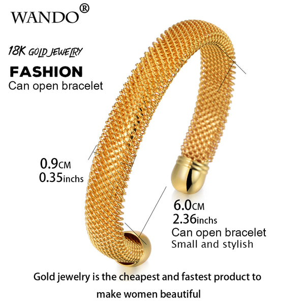 Gold Plated Copper Made Kada Classic Italian Design All Size Adjustable