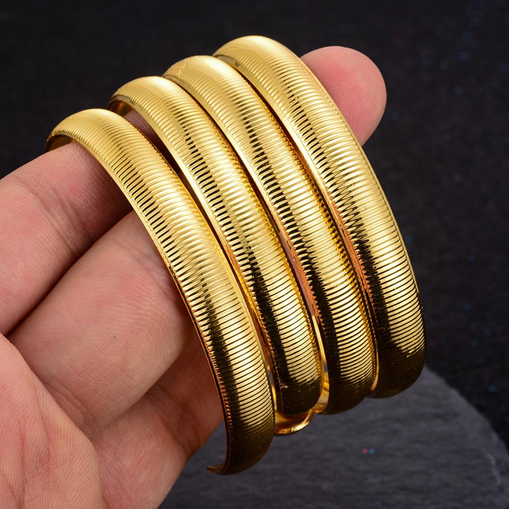Classic Gold Plated Made by Copper High Quality Bangles 4Pcs/Set